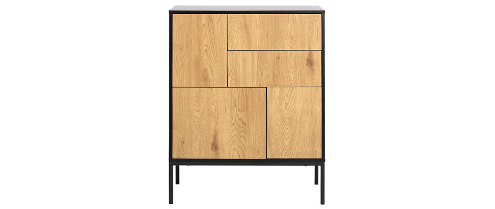 Aparador industrial 5 puertas metal y madera TRESCA