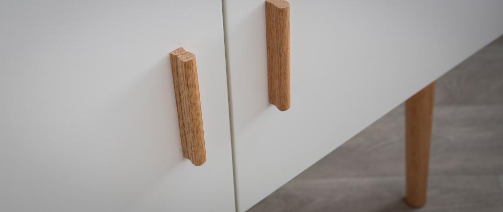Aparador madera natural y blanca 2 puertas GILDA