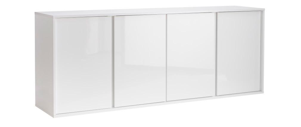 Aparador moderno blanco lacado brillante L180 cm COMO