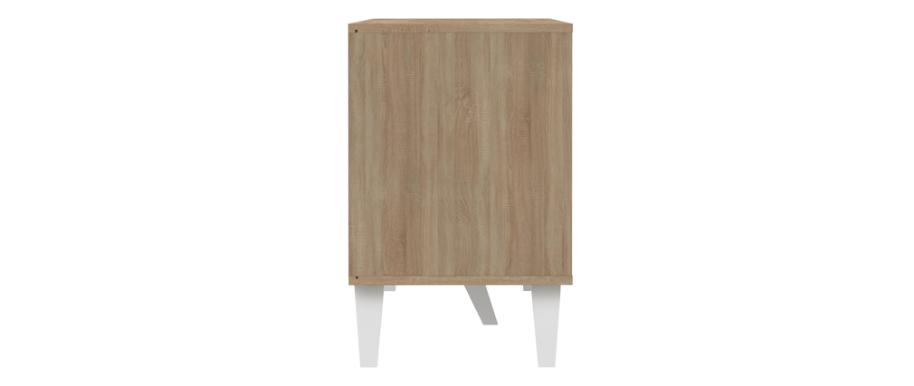 Aparador nórdico 3 puertas madera y blanco ORIGAMI
