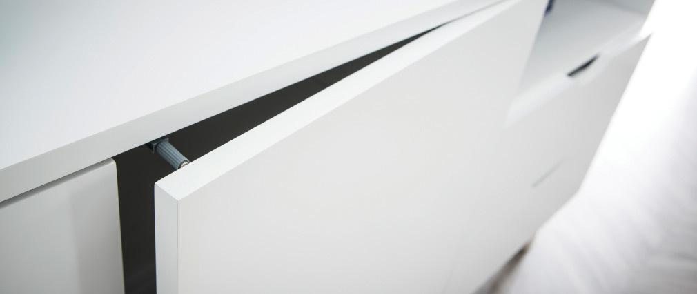 Aparador nórdico blanco y madera clara LEENA