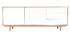 Aparador nórdico madera y blanco 195cm SID