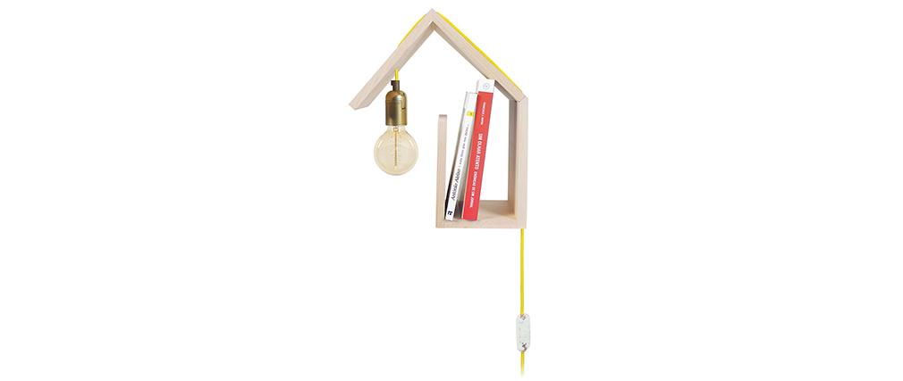 Aplique de pared diseño fijación izquierda cable amarillo HUT