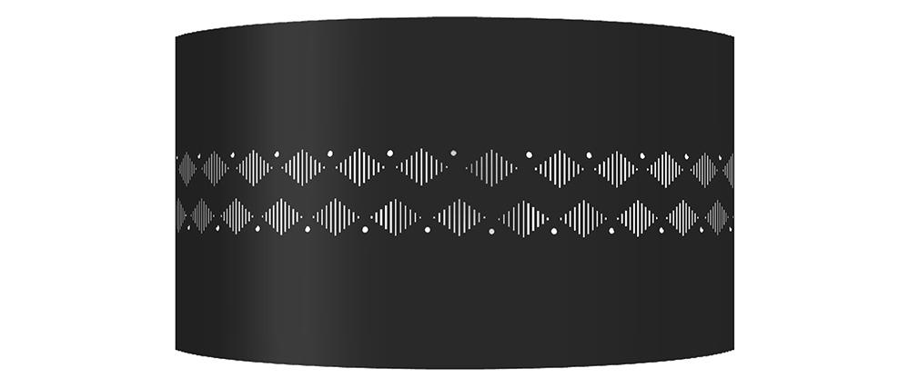 Aplique de pared diseño metal negro SMART