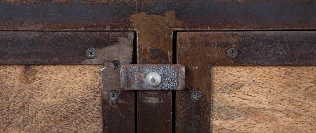 Armario madera maciza y metal industrial INDUSTRIA