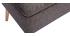 Banco cofre en tejido gris oscuro y madera clara LARS