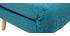 Banco convertible 2 plazas en tejido azul petróleo AMIKO
