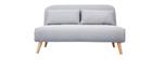 Banco convertible 2 plazas en tejido gris claro AMIKO
