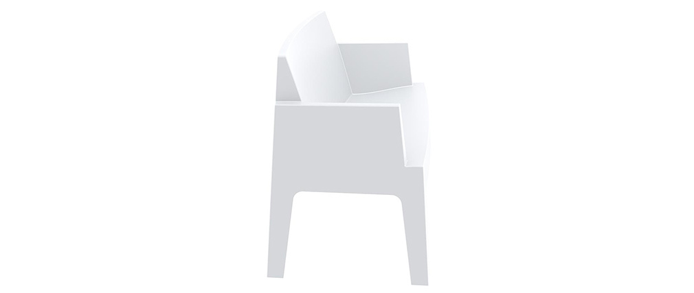 Banco de jardín diseño blanco LALI