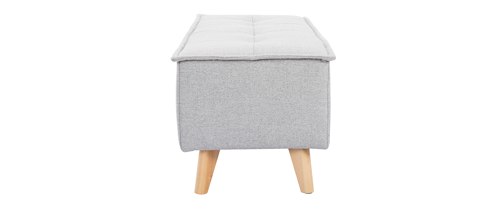 Banco tejido gris claro SUKA