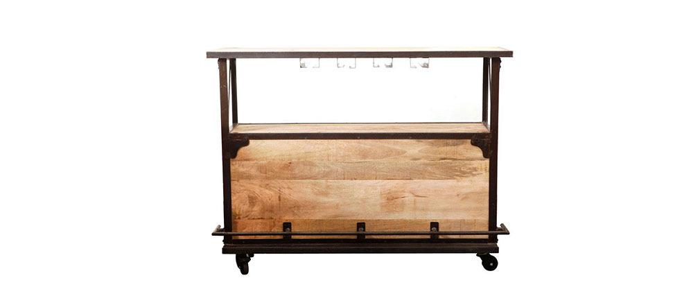 Bar diseño industrial madera maciza INDUSTRIA