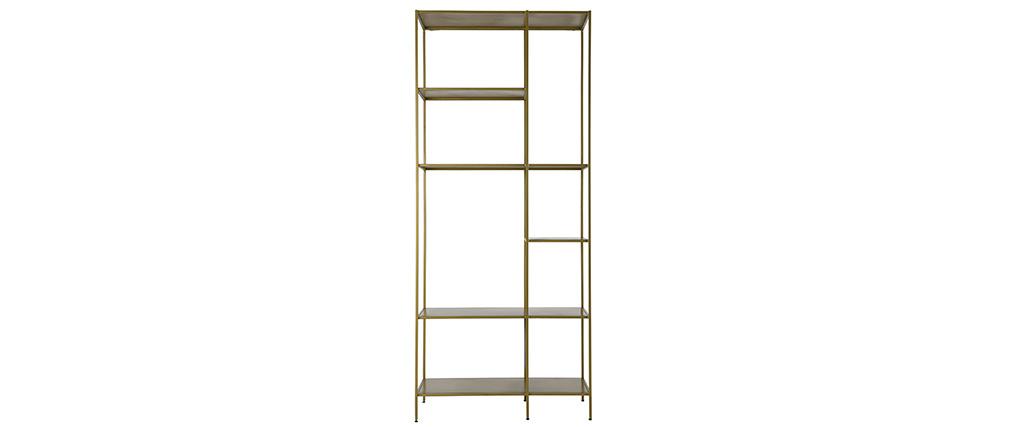 Biblioteca 5 estantes en metal dorado MAGIC
