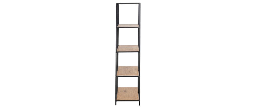 Biblioteca industrial metal y madera L77 cm TRESCA