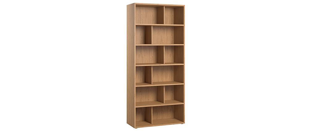 Biblioteca madera clara EPURE