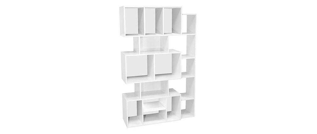 Biblioteca moderna blanca con fondo negro o blanco FOLCO