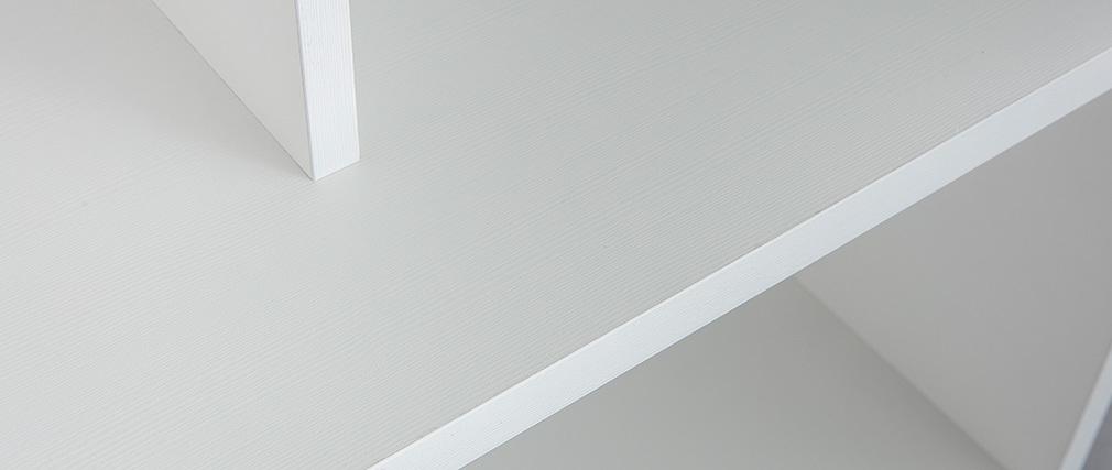 Biblioteca moderna en madera blanca EPURE