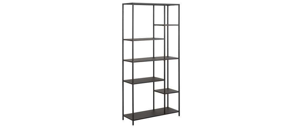 Biblioteca moderna en metal negro A165 cm PODIUM