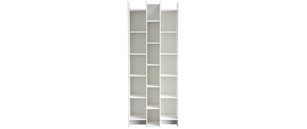 Biblioteca moderna madera blanca CLIMB