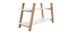 Biblioteca nórdica madera y blanco PANCOL