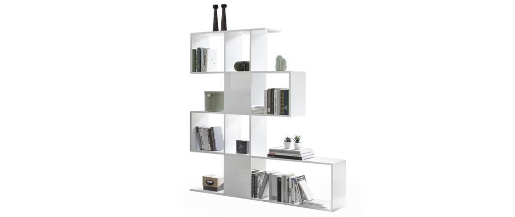 Biblioteca separador blanco lacado brillante A147 cm COMO