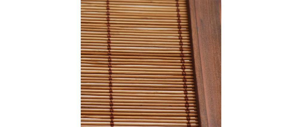 Biombo de 3 partes NIHA de abeto y bambú