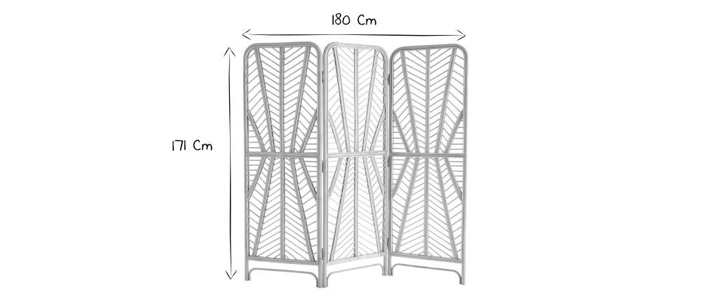 Biombo en ratán 3 paneles GALON