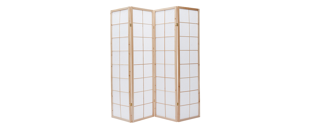 Biombo japonés de madera y papel IKUYO
