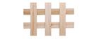 Biombo madera natural AKKIKO