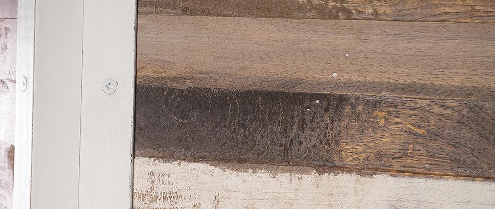 Biombo madera y metal blanco ROCHELLE