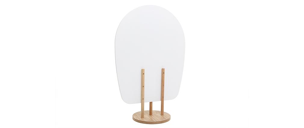 Biombo nórdico-japonés madera blanco JAPANSK