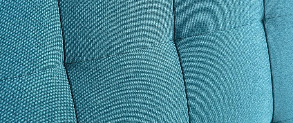 Cabecero capitoné en tejido azul petróleo 140 cm HALCIONA