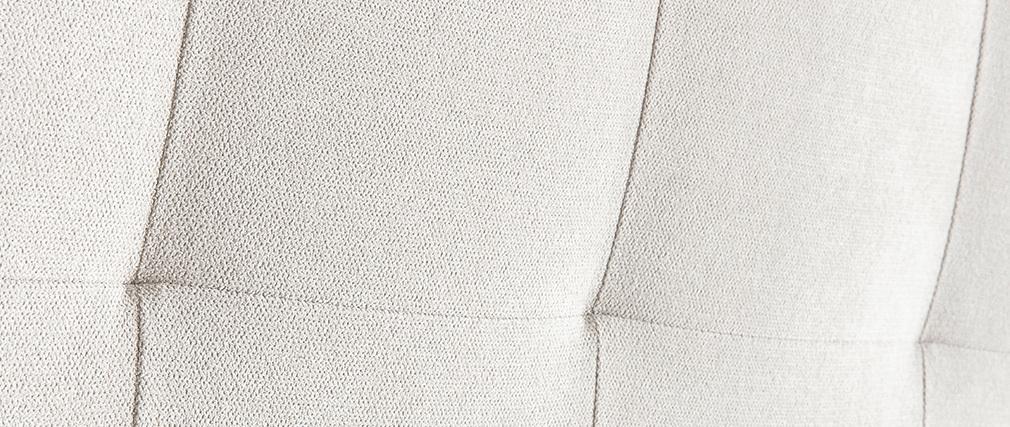 Cabecero capitoné en tejido beige 140 cm HALCION