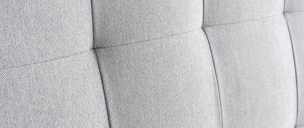 Cabecero capitoné en tejido gris 140 cm HALCIONA
