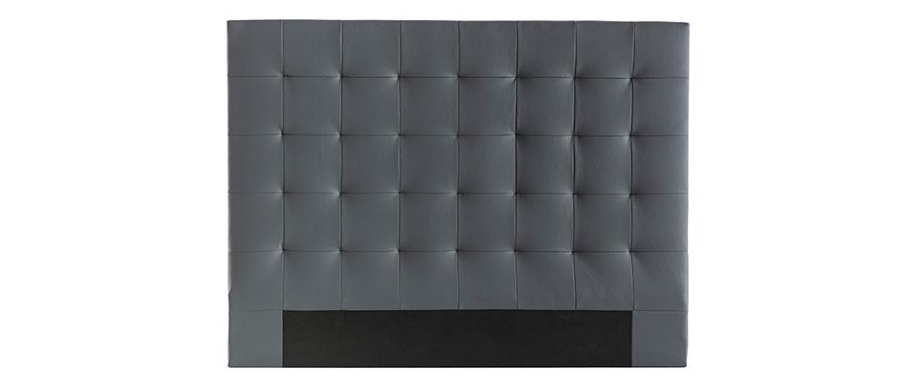 Cabecero capitoné gris oscuro 160 cm HALCION