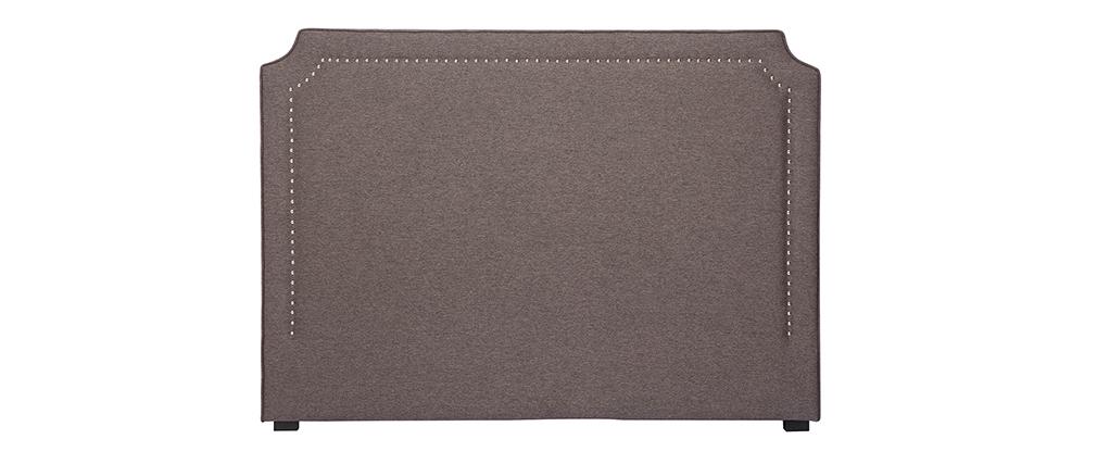Cabecero con tachuelas en tejido gris oscuro L166 cm BARDOT
