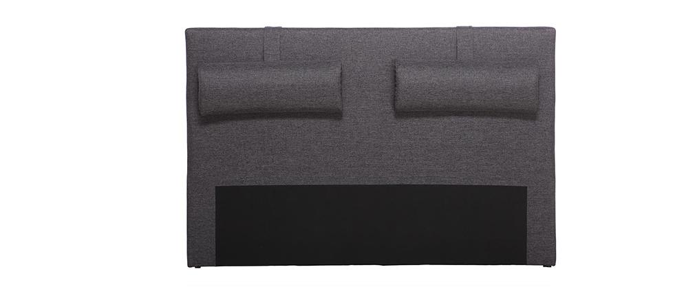 Cabecero de cama 150cm gris antracita LORRY (para cama de 140)