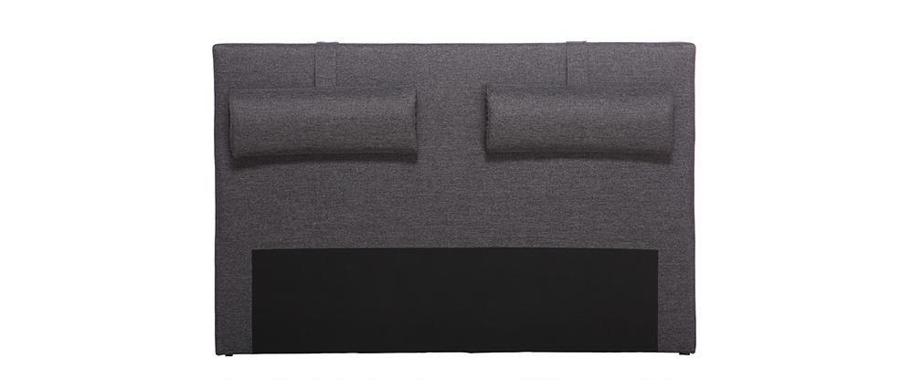 Cabecero de cama 170cm gris antracita LORRY (para cama de 160)