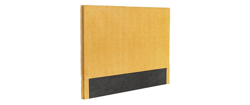 Cabecero en tejido amarillo mostaza 140 cm ZORYA