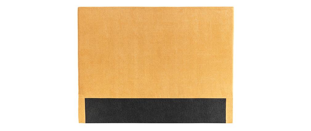 Cabecero en tejido amarillo mostaza 160 cm ZORYA