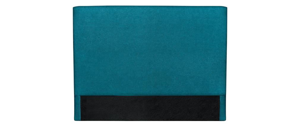 Cabecero en tejido azul petróleo 140 cm ZORYA
