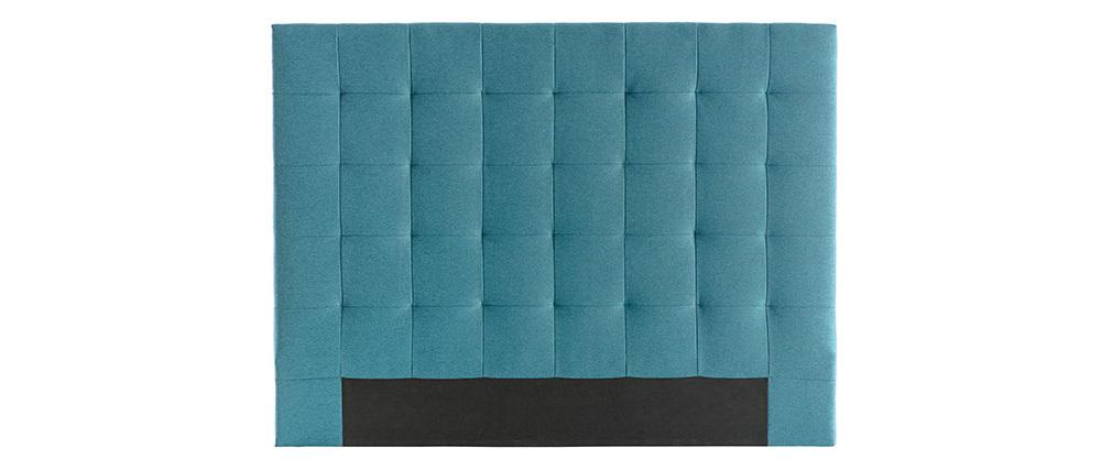 Cabecero en tejido azul petróleo 160 cm HALCION