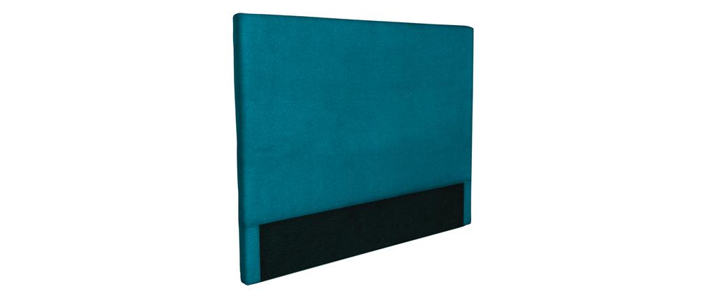 Cabecero en tejido azul petróleo 160 cm ZORYA
