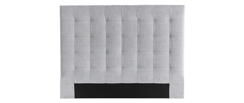 Cabecero en tejido gris 160 cm HALCION