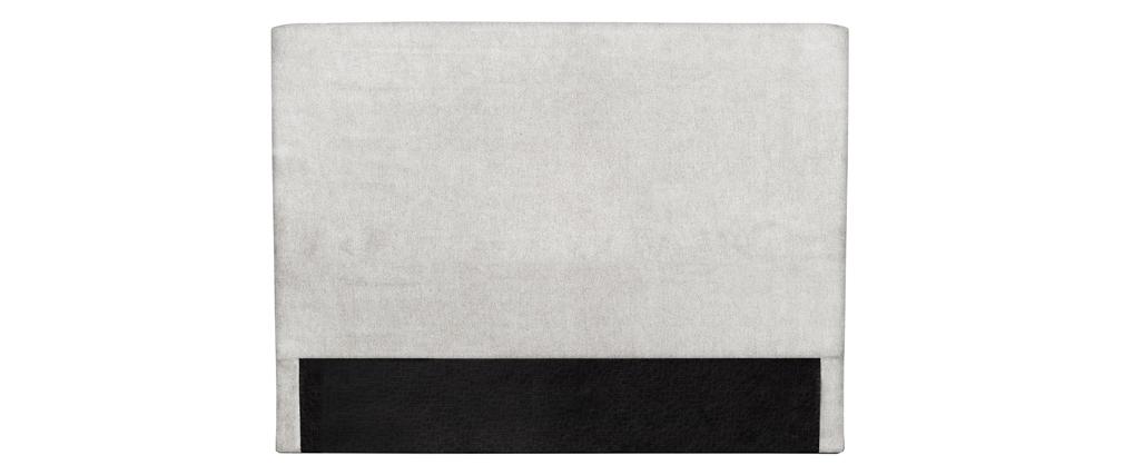 Cabecero en tejido gris claro 140 cm ZORYA