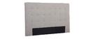 Cabecero en tejido gris claro 170 cm LUTECE
