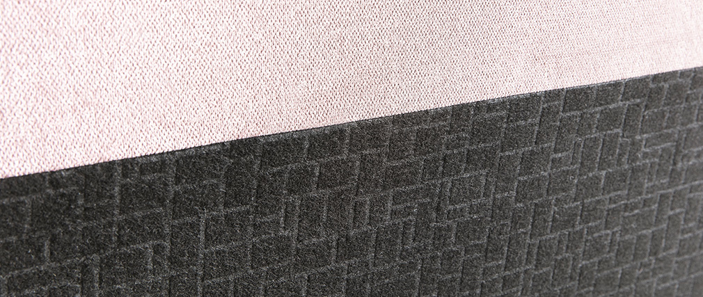 Cabecero en tejido rosa 140 cm ZORYA