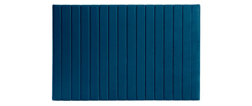 Cabecero en terciopelo azul petróleo L170 cm NEHA