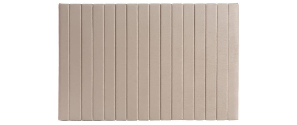 Cabecero en terciopelo beige grisáceo L170 cm NEHA