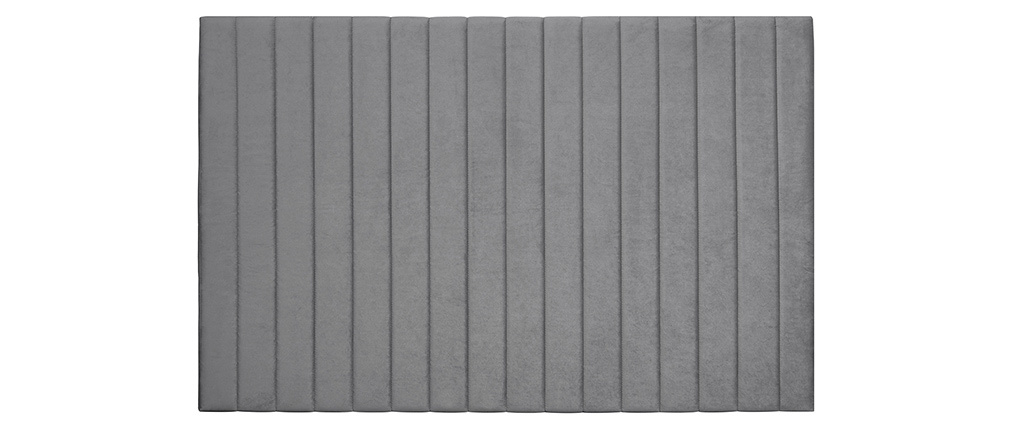 Cabecero en terciopelo gris L170 cm NEHA