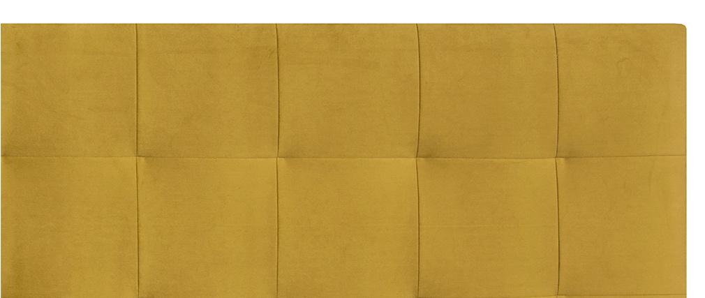 Cabecero en terciopelo mostaza 160 cm HALCIONA